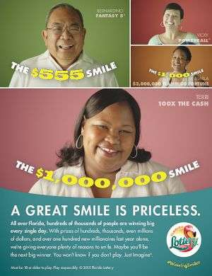 Lottery ad