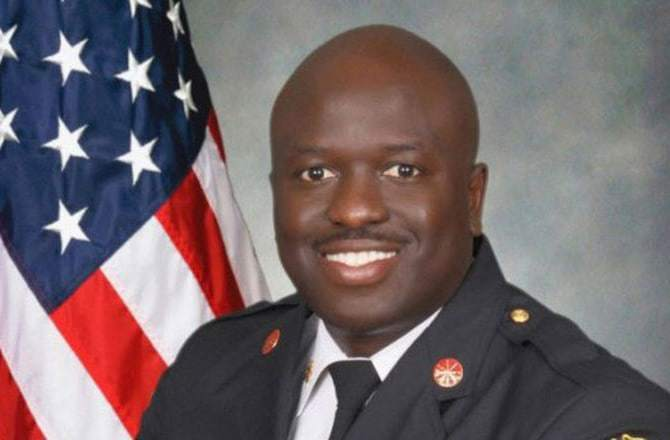 Roderick Williams sworn in as 19th fire chief on March 19, 2015