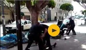 LA police caught on video shooting and killing homeless man
