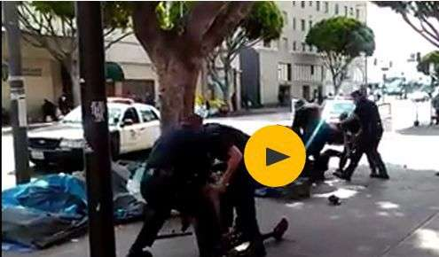 LAPD officers shoot dead homeless man after street altercation