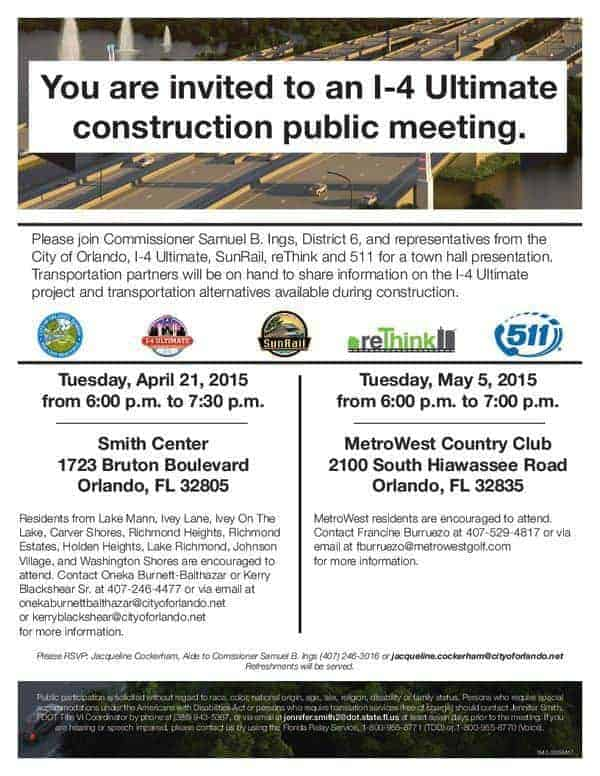 I-4 Ultimate project Town Hall Meetings