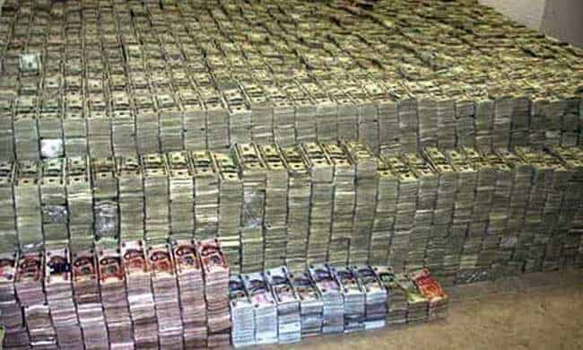 confiscated cash