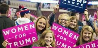 white women supporting Trump