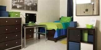 dorm room at Clark Atlanta