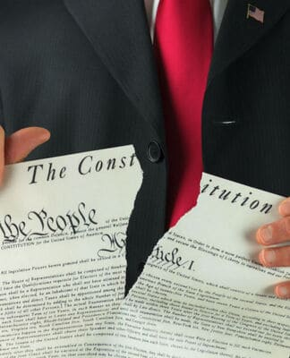 Running afoul of the constitution