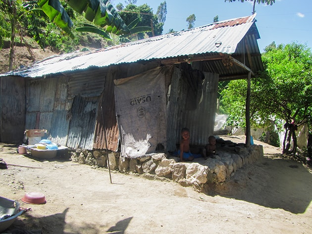 Home built with tarpaulin sheets